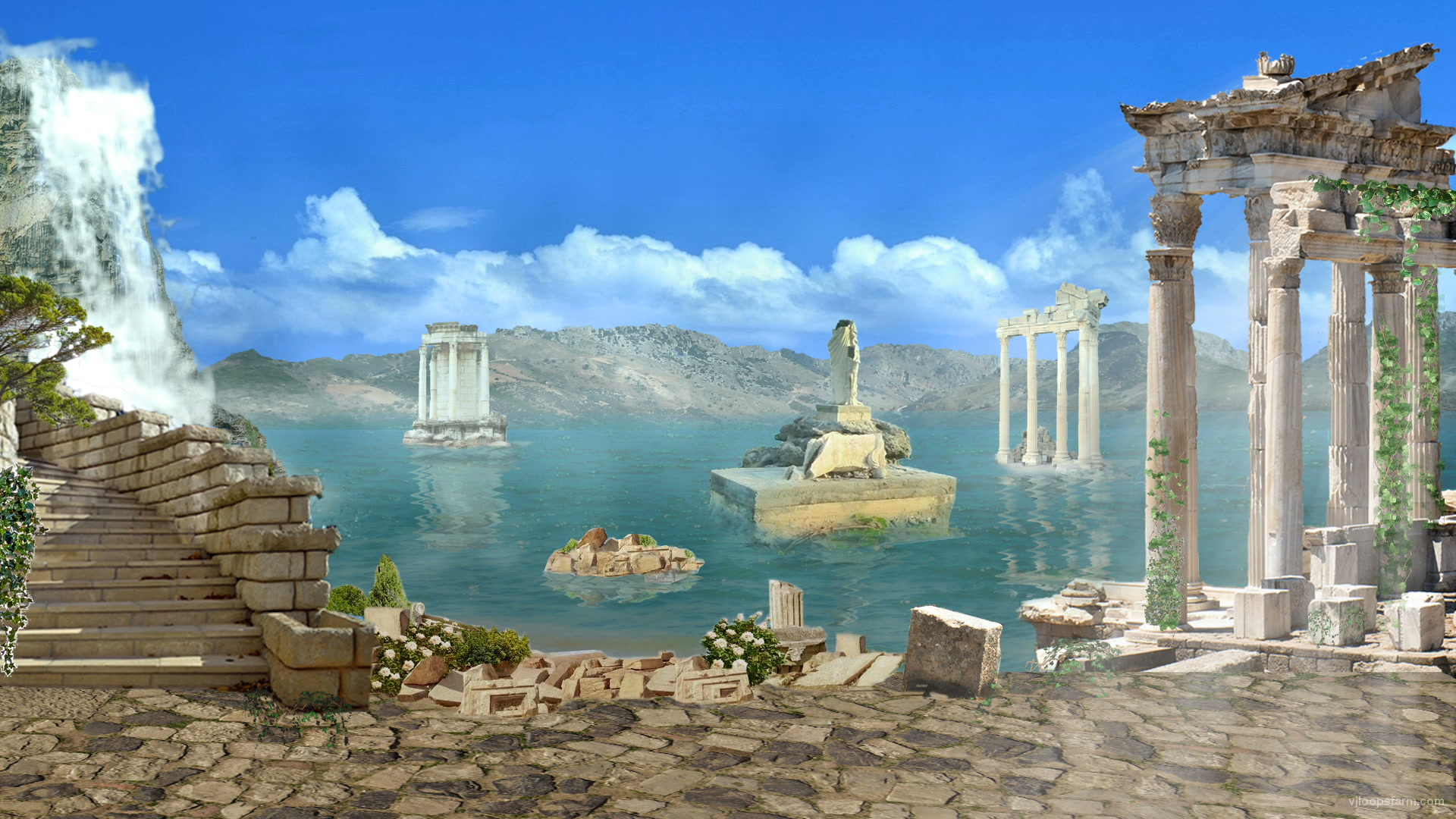 Greece Islands Decorations   VJ Loop Download Full HD vj loop 1920x1080