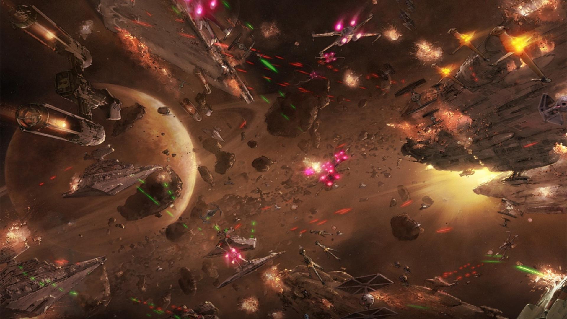 Star Wars Space Battle HD Wallpaper 1920x1080 ID56389 1920x1080