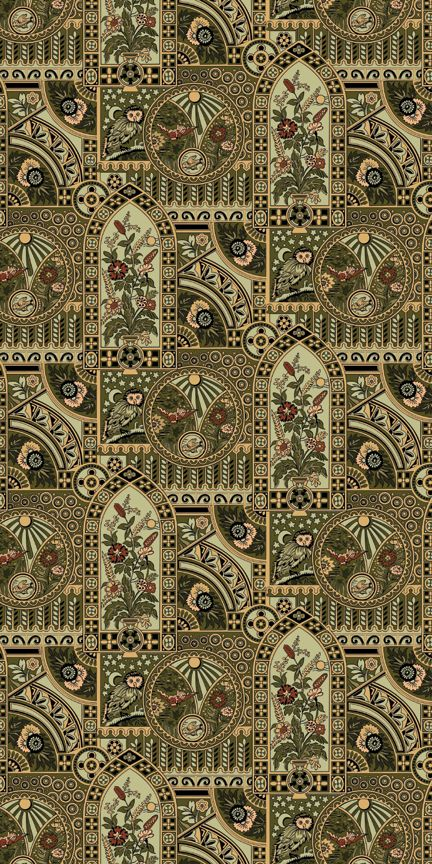 style of wallpaper   Nocturnal Owl   Historic Wallpapers   Victorian 432x864