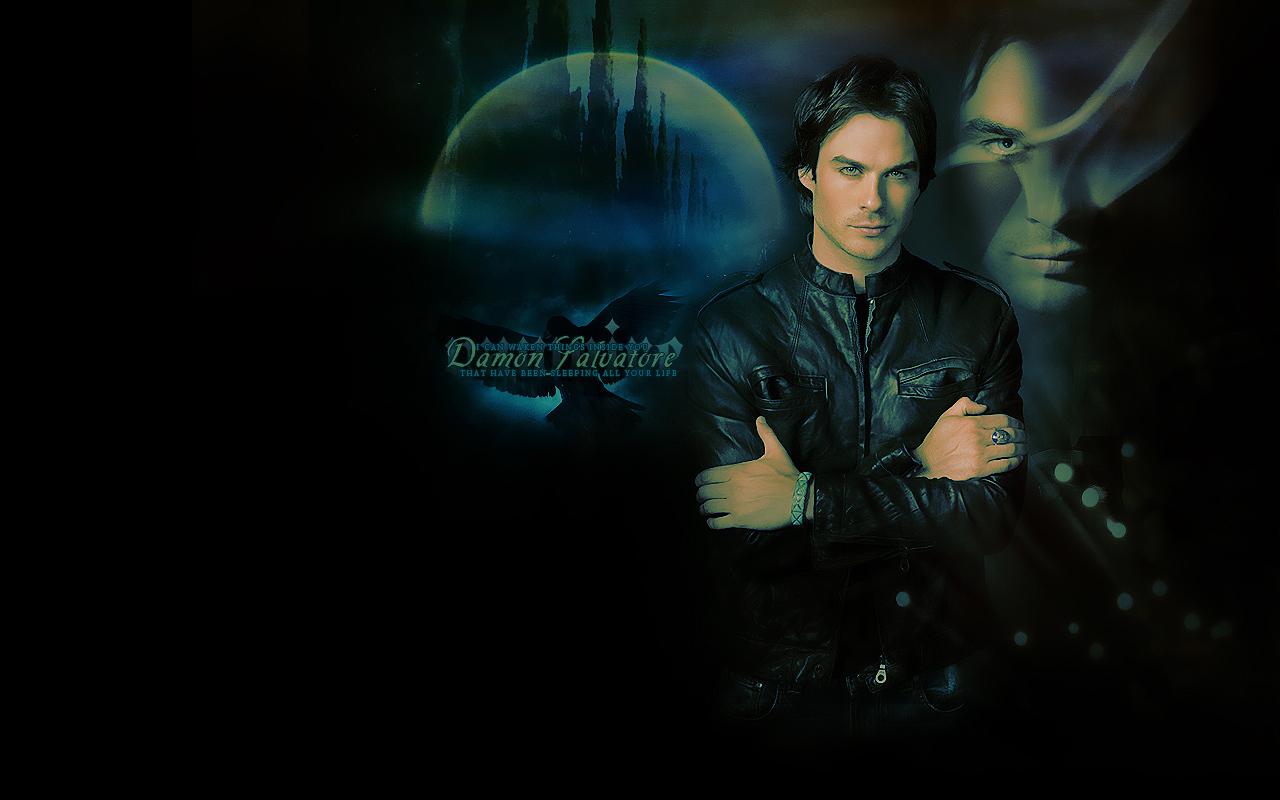 Damon Salvatore   The Vampire Diaries Wallpaper 8415141 1280x800