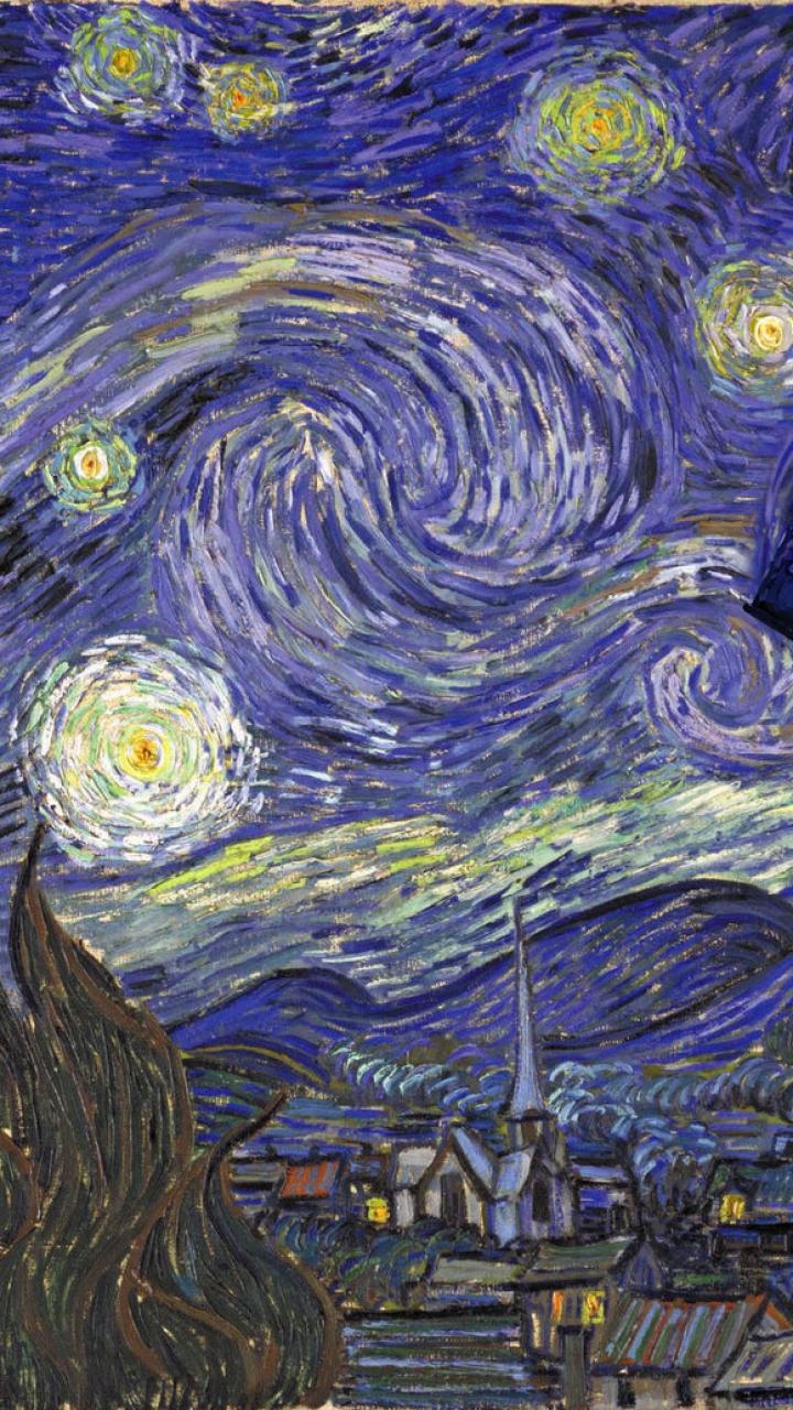 tardis vincent van gogh doctor who starry night 915771 720x1280