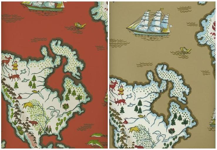 Wallpaper Key Ralph Lauren Family Places Expedition Novelty Map 739x510