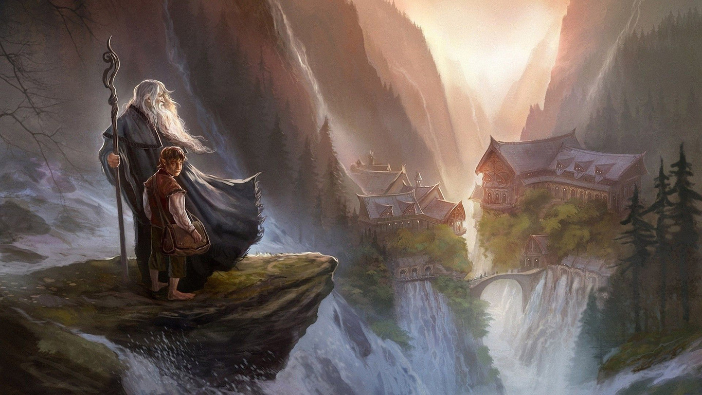 Download Gandalf and Bilbo Baggins   The Hobbit wallpaper 1365x768