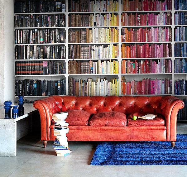 20 Bookshelf Decorating Ideas 600x568
