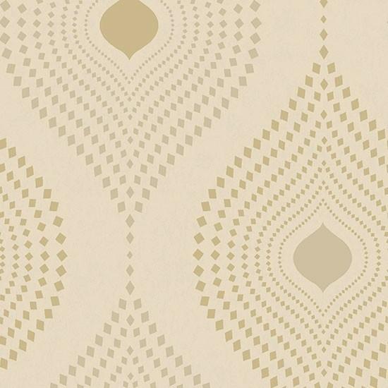 Tia Geometric Wallpaper Gold Sample   Contemporary   Wallpaper   by 550x550