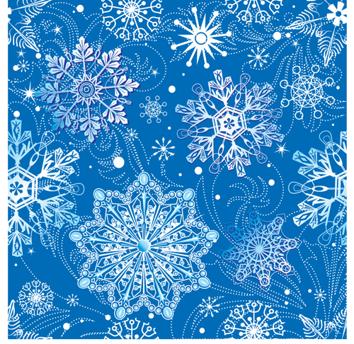 Bright Winter Snow backgrounds art vector 05   Vector Background 500x486