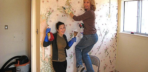 Wallpaper removal tips For the Home Pinterest 595x292
