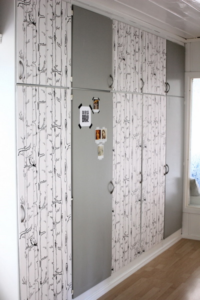 Wallpapered Closet Doors Door Wallpaper