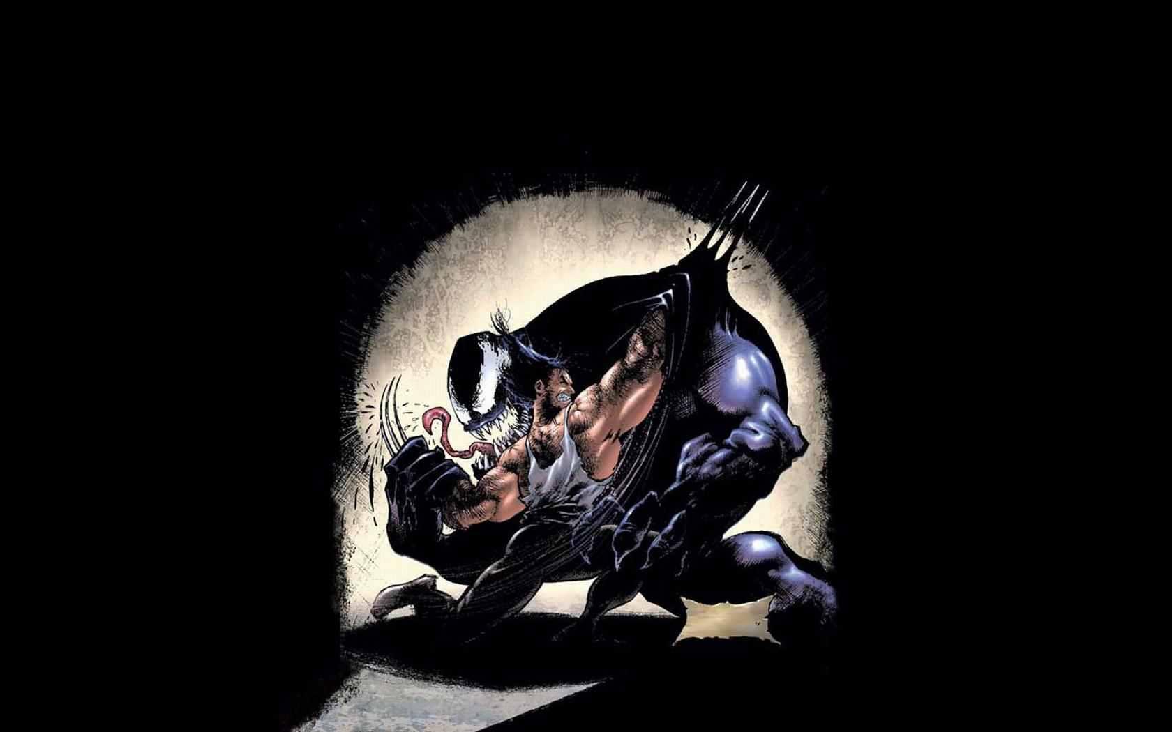 Venom Wolverine Wallpaper 1680x1050 Venom Wolverine Marvel Comics 1680x1050
