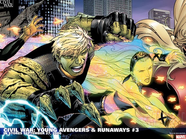 Young Avengers Marvel Now Wallpaper Civil war young avengers 640x480