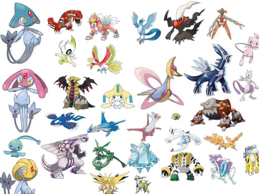 Pin All Legendary Pokemon 1024x768
