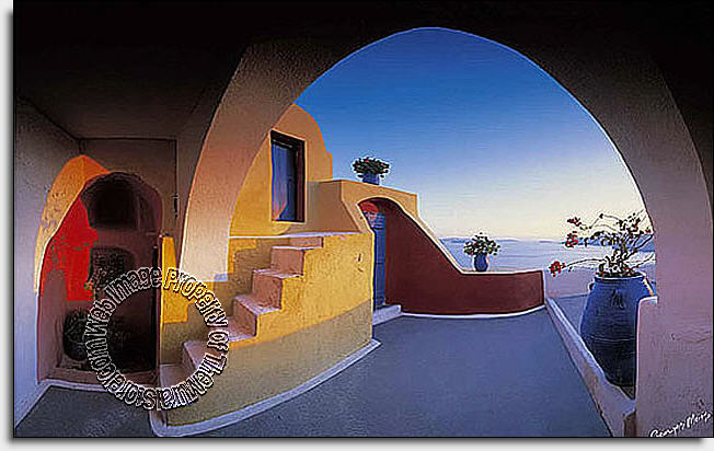 Wall Murals The Mural Store Full Size Large Wall Murals Santorini 652x412