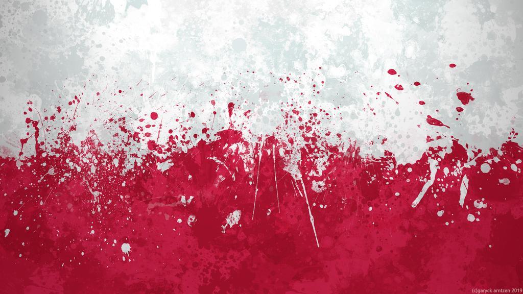 Poland Flag Wallpaper   Grungy Splatter by GaryckArntzen 1024x576