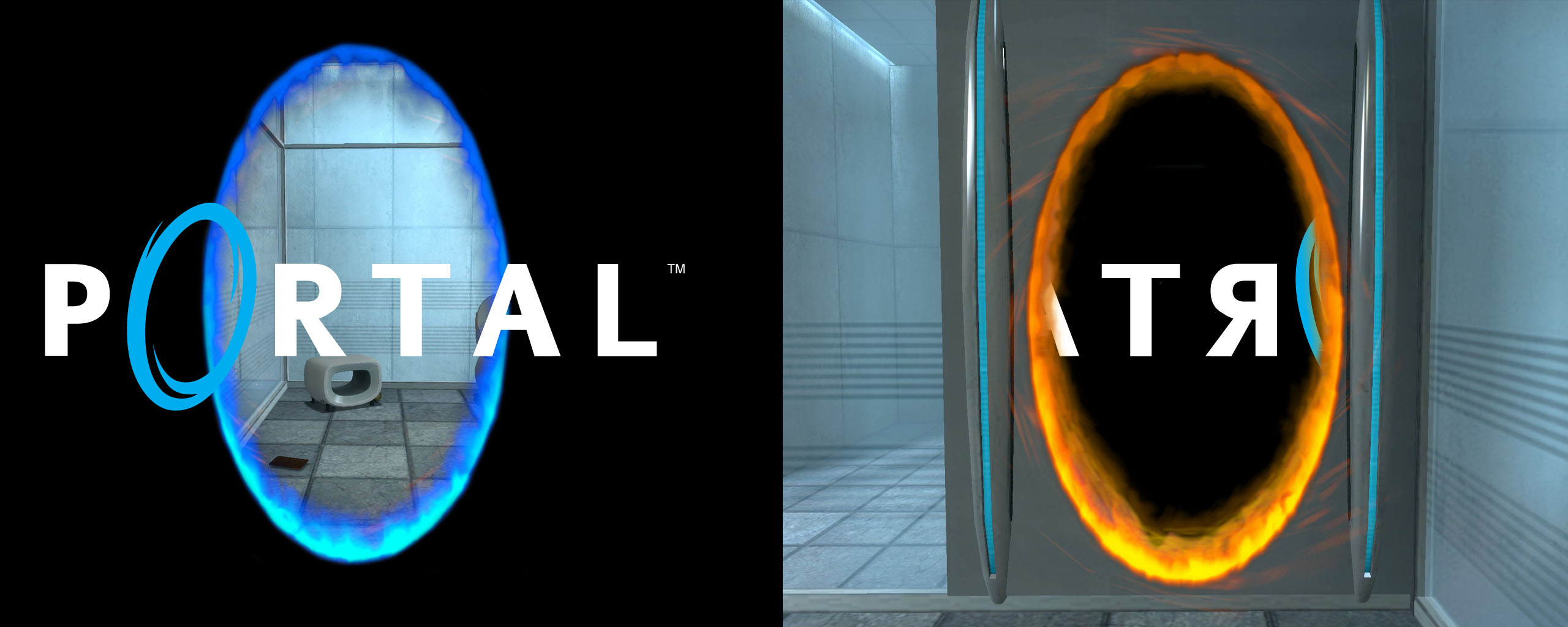 Portal Wapo Wallpaper 2560x1024 Portal Wapo Portal Dual Screen 2560x1024
