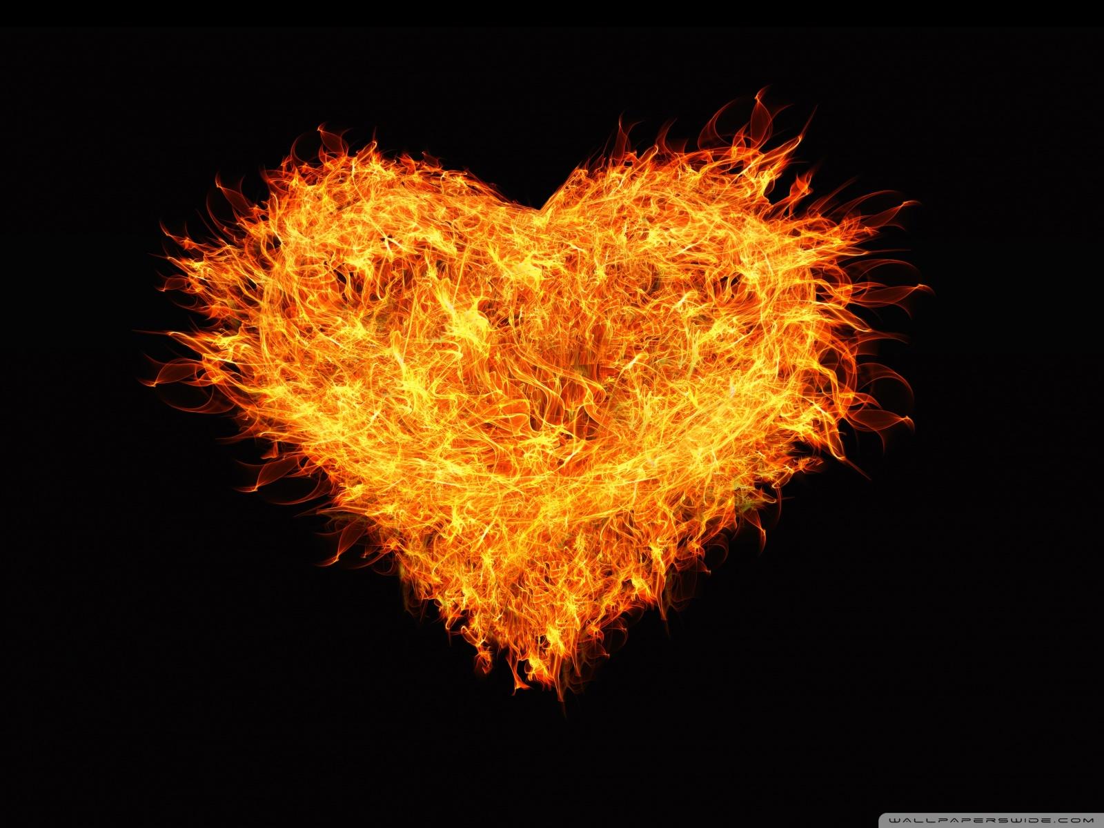 Wallpaper Fire Heart 1600x1200