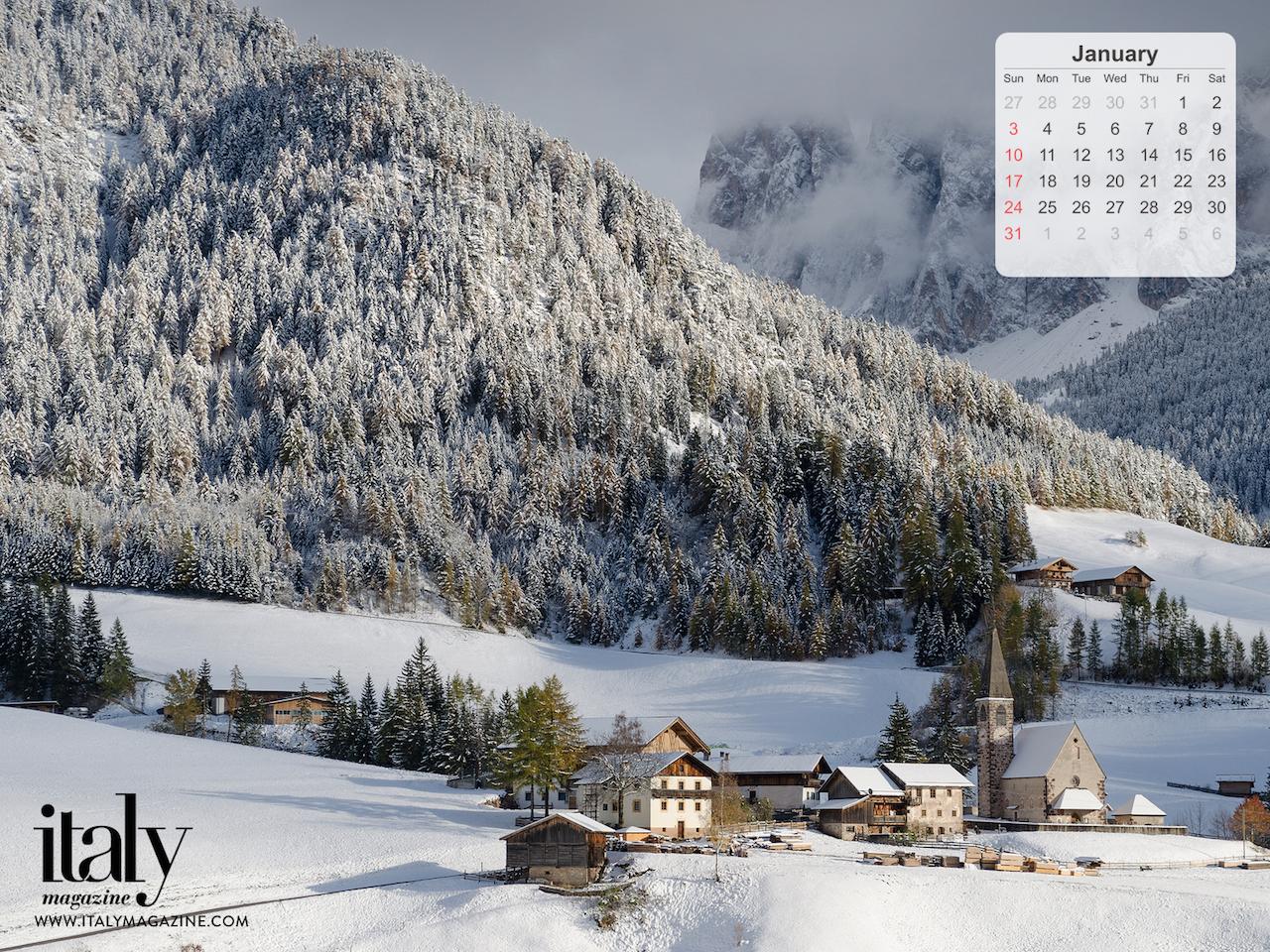Wallpaper Calendar   January 2016 ITALY Magazine 1280x960
