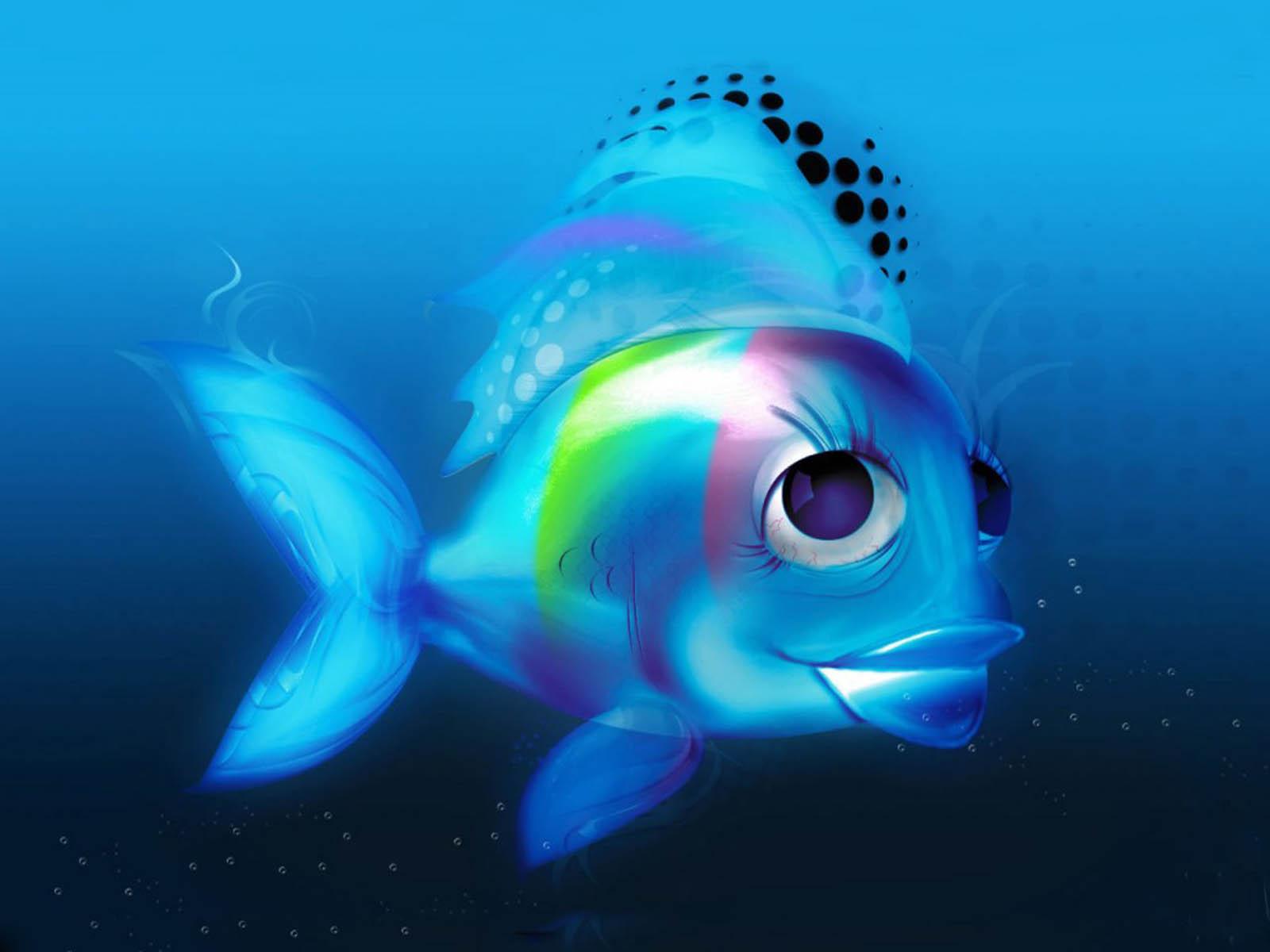 3D Fish Wallpapers Wallpaper 1600x1200