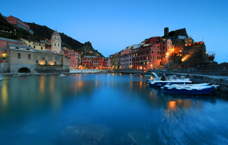 Wallpaper harbour The Ligurian sea Italy Vernazza Liguria 1332x850