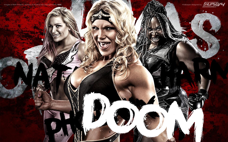 Beth Phoenix Natalya Neidhart Kharma Divas of Doom wallpaper 1440x900