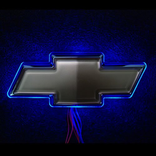 LED For Chevrolet Logo Blue Image   LED For Chevrolet Logo Blue 500x500