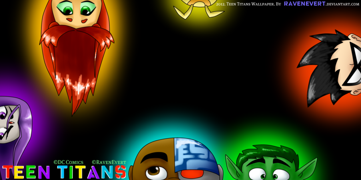 Teen Titans Wallpaper by RavenEvert 1264x632