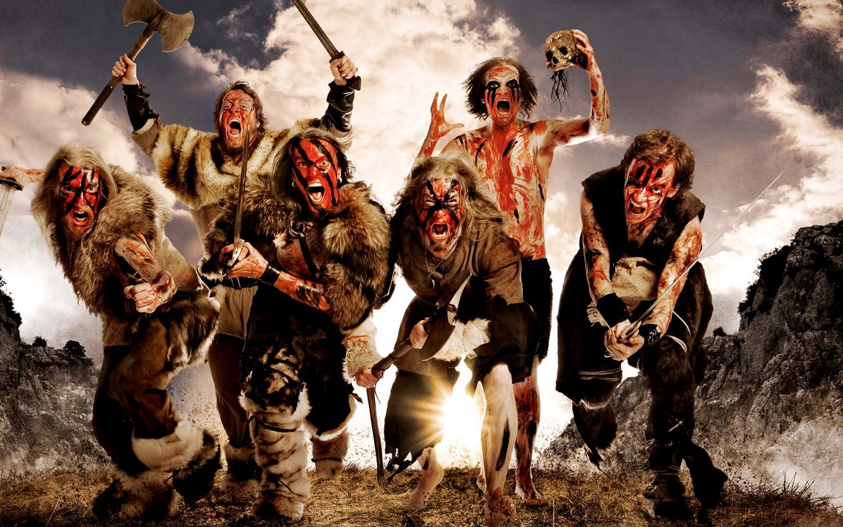 Download wallpaper 1680x1050 turisas arm skull image scream 1680x1050