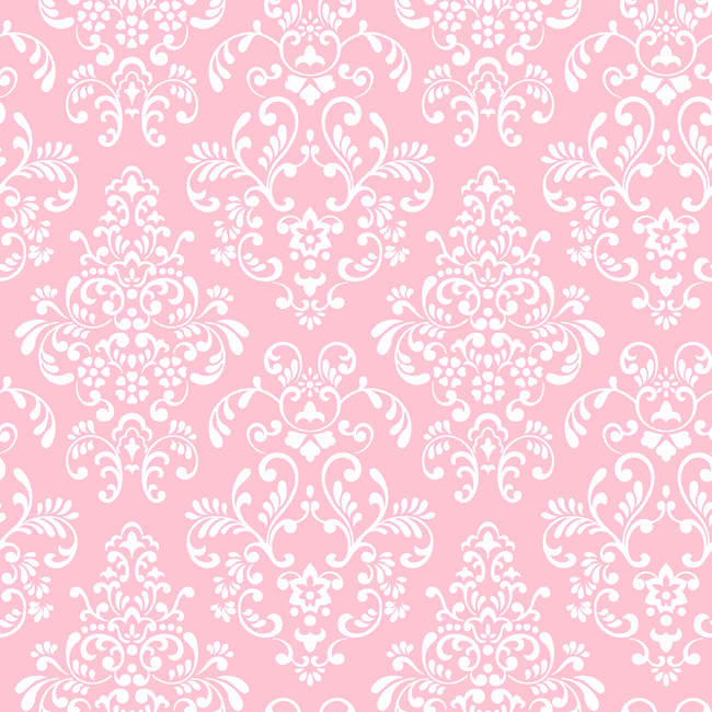 Pink White KD1754 Delicate Document Damask Wallpaper   Baby 650x650
