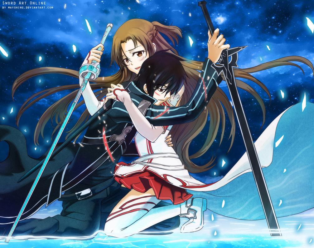 Sword Art Online Wallpaper Asuna Fighting