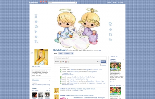 Facebook Skins Heaven Sent Precious Moments Facebook Backgrounds 500x320