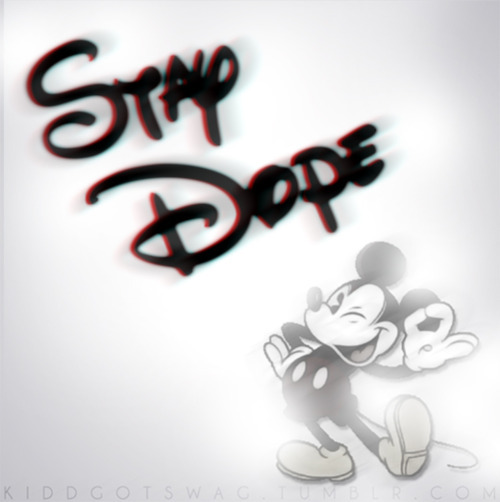 stay dope dope mickey mouse disney black and white 500x502