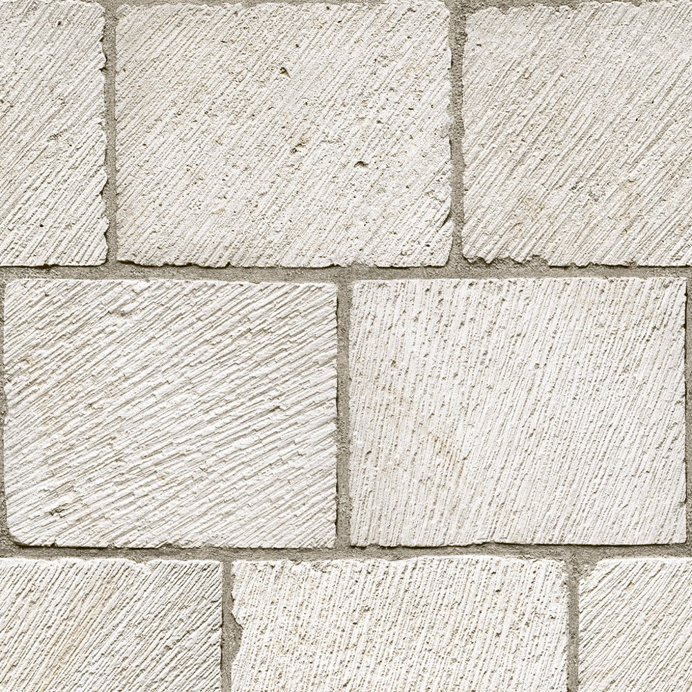 It Brick Blocks Faux Stone Wall Embossed Blown Vinyl Wallpaper J64907 1000x1000