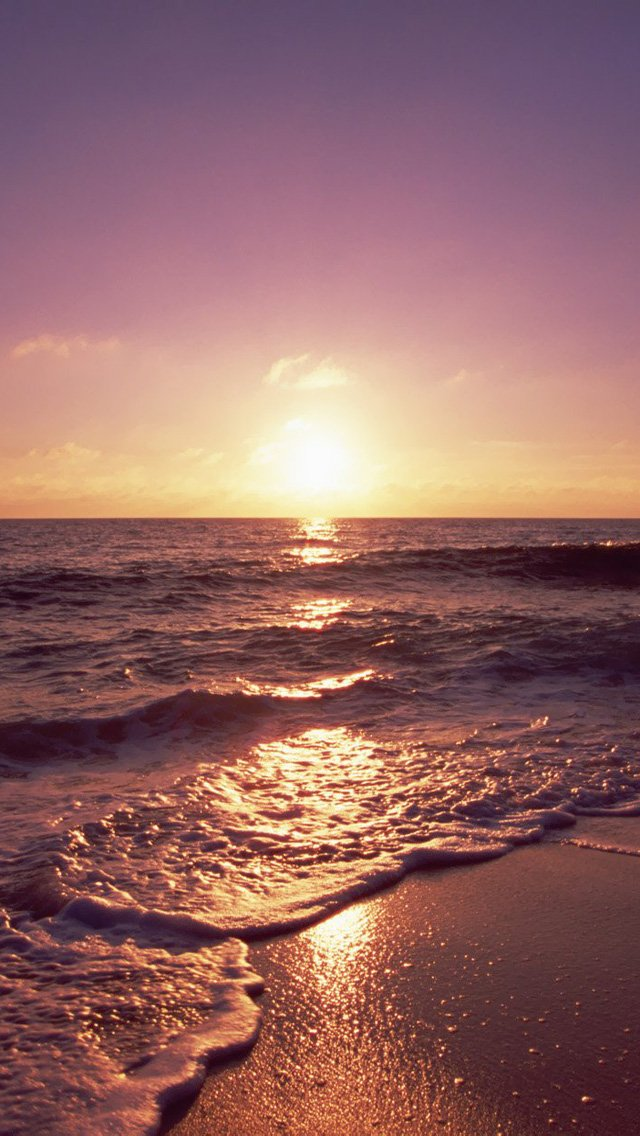 Ocean sunsets wallpaper wallpapersafari for Fond ecran iphone nature