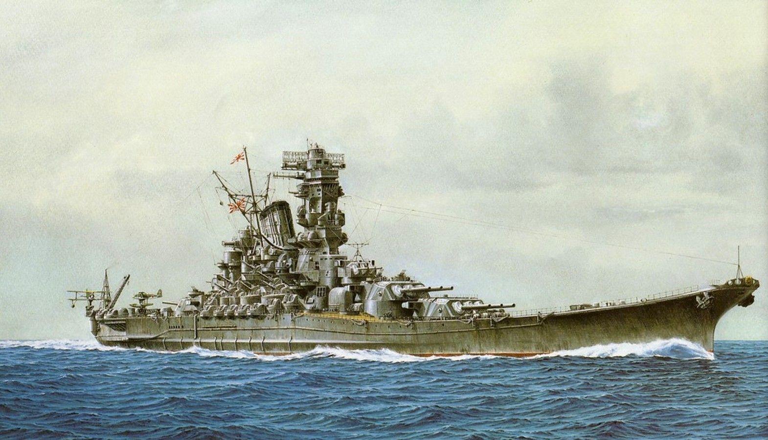 Battleship Yamato Battle Battleship Japan Japanese Navy Sea War 1570x900