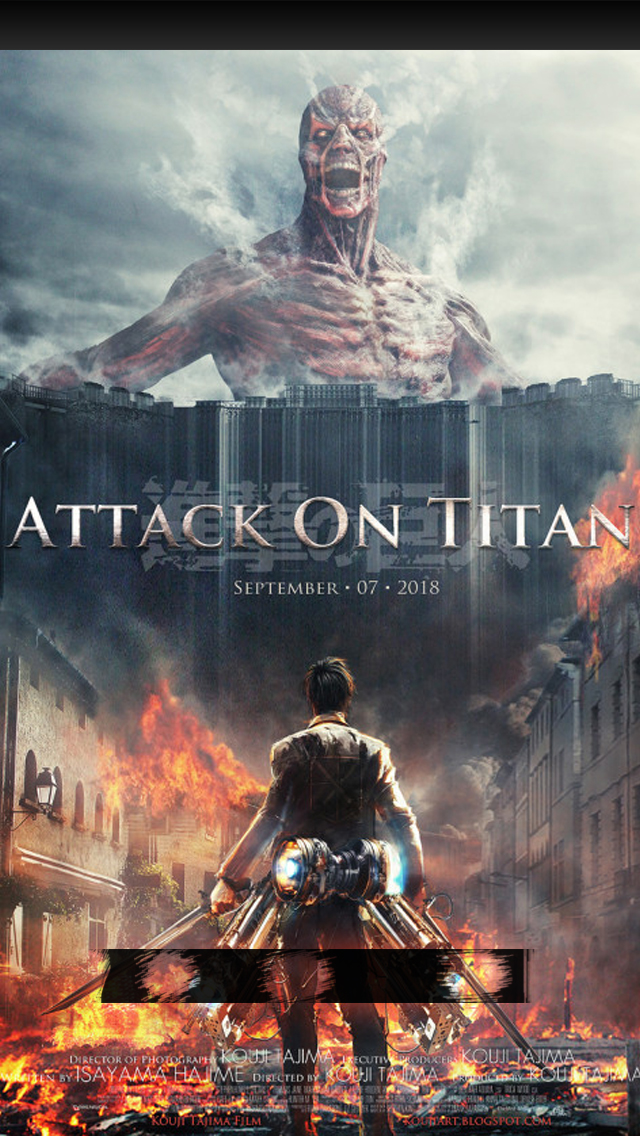 Attack on Titan iPhone 55s Lock Screen Wallpaper by chchcheckit on 640x1136