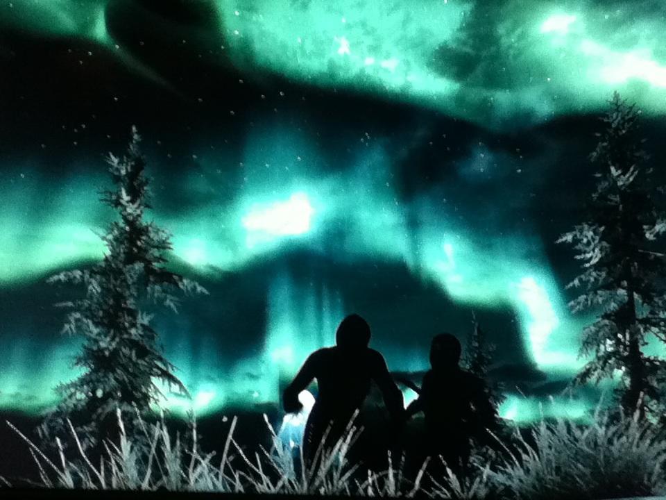 Beautiful Skyrim Tundra Lights   Elder Scrolls V Skyrim Photo 960x720