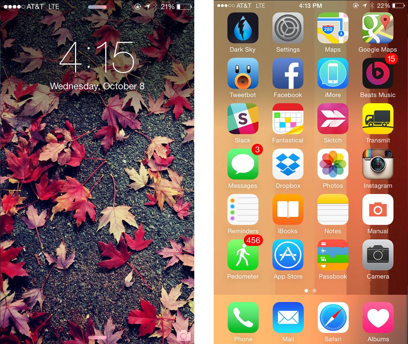 Фотография в полный экран на айфоне