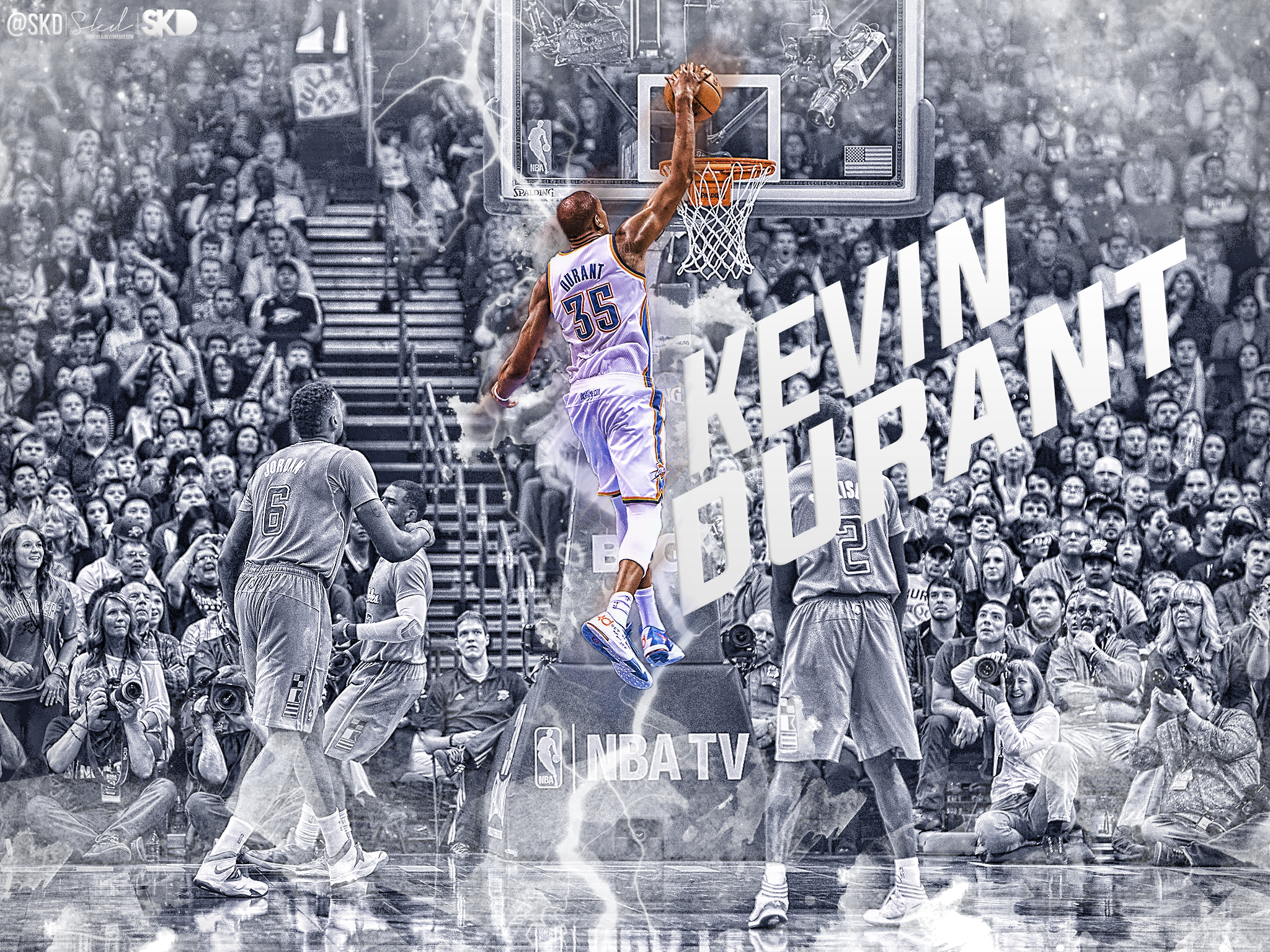 download Kevin Durant Cold Dunk Wallpaper by SkdWorld 2048x1536