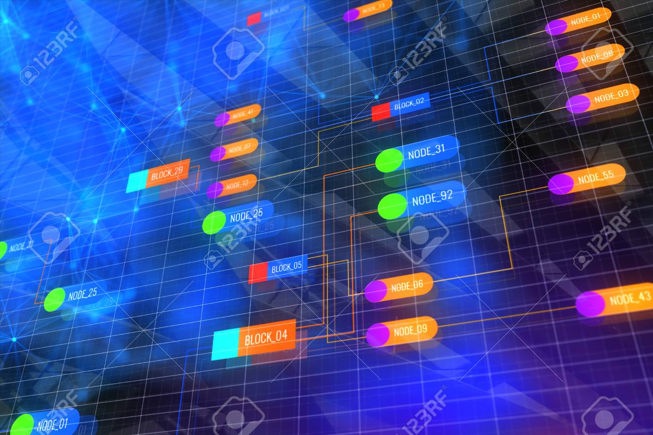 Glowing Colorful Node Wallpaper Technology And Computing Concept 1300x866