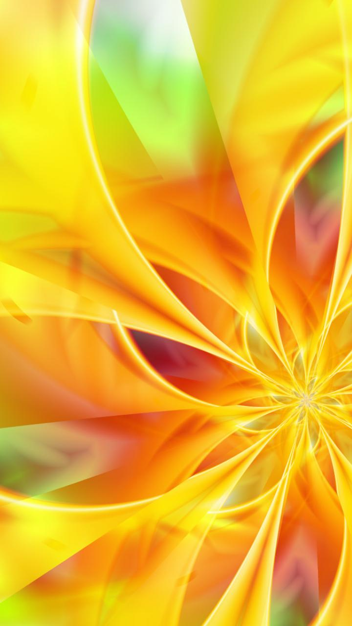 abstract cool yellow flower HD Wallpaper   Abstract Vector 85448 720x1280