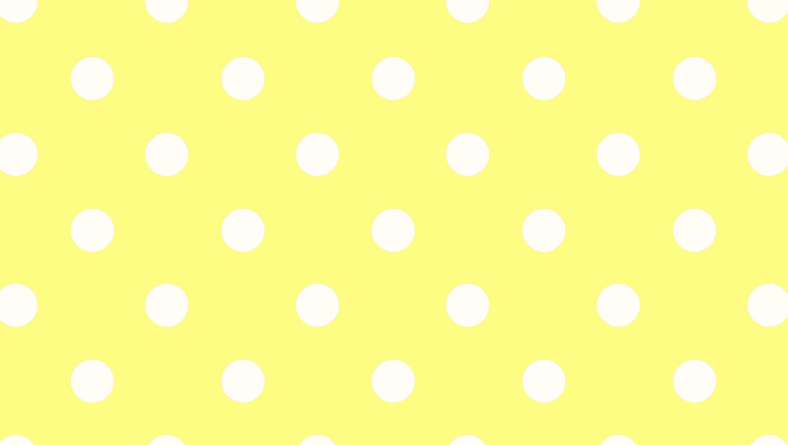 free yellow polka dot wallpaper 1600x903 for