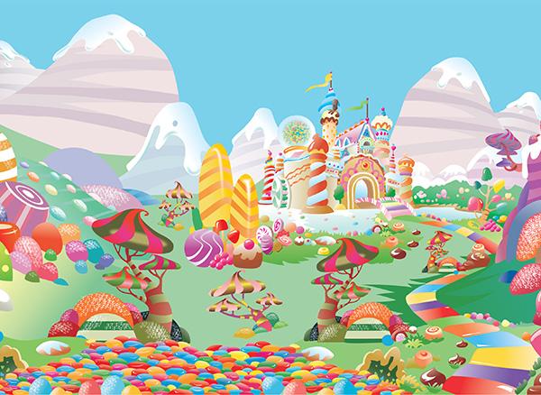 candy land wallpaper wallpapersafari