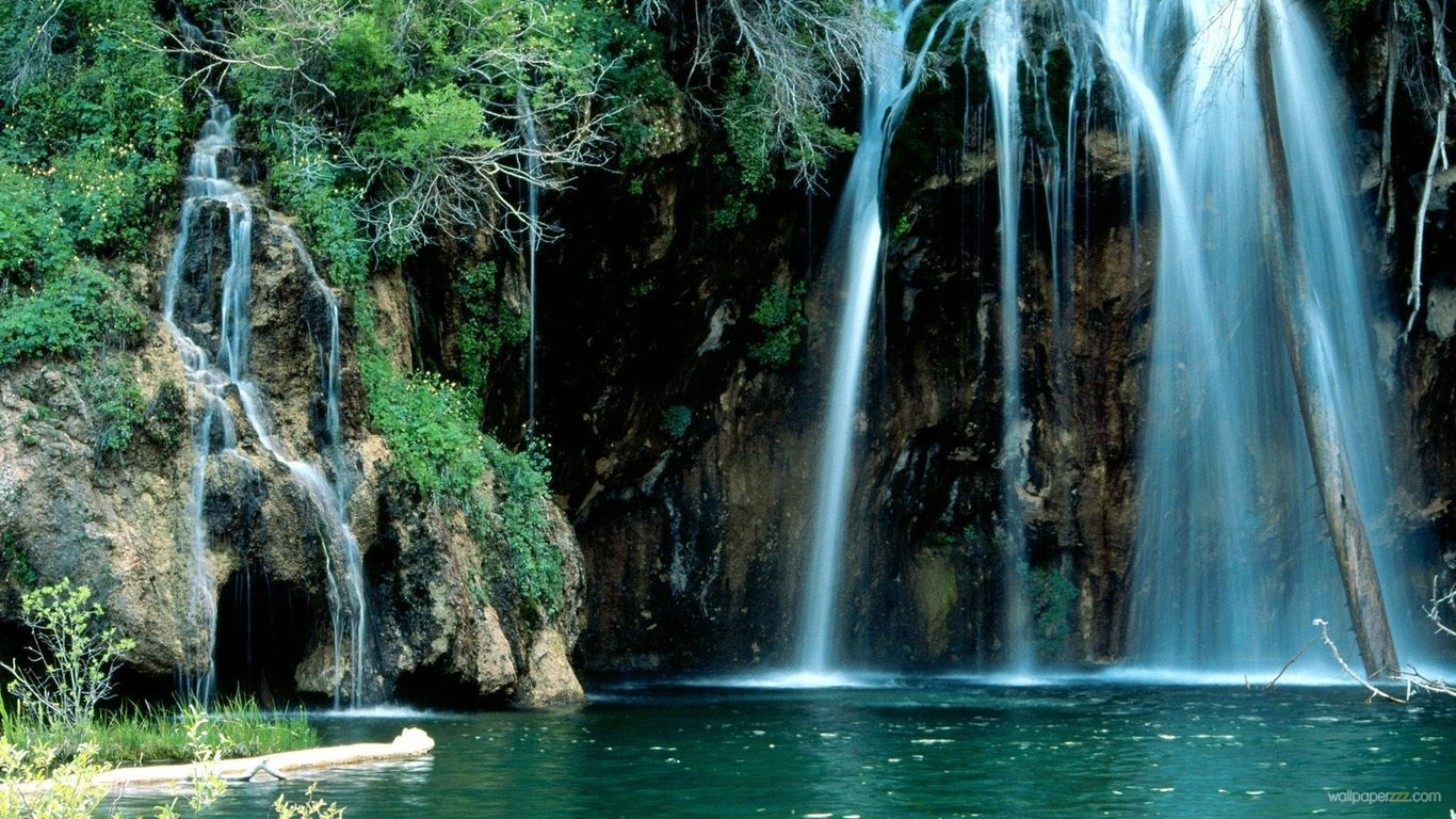 Download Beautiful Waterfall In Colorado HD Wallpaper Wallpaper 1366x768