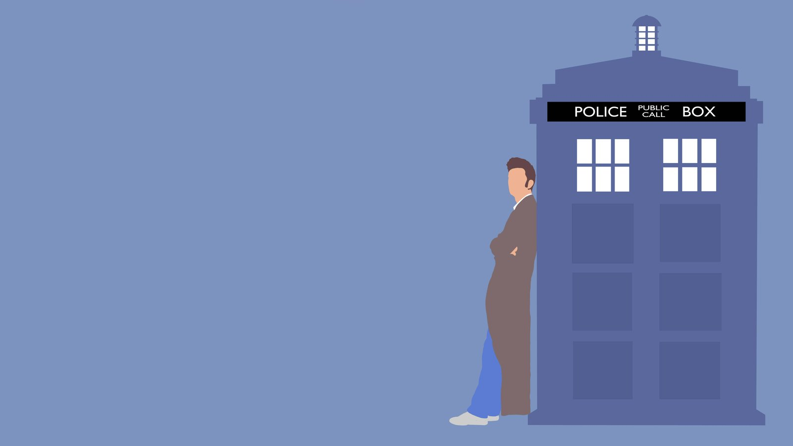 Tardis Wallpaper Iphone The 10th doctor and his tardis 1600x900