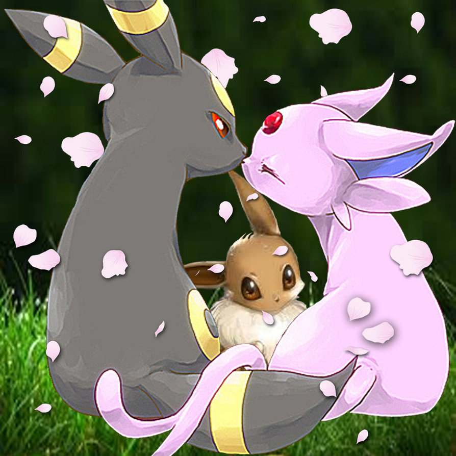 Espeon and Umbreon by LKYPG13 894x894