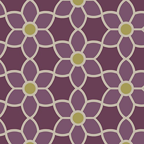 2535 20610 Blossom Geometric Floral Wallpaper Purple Awardpediacom 500x500