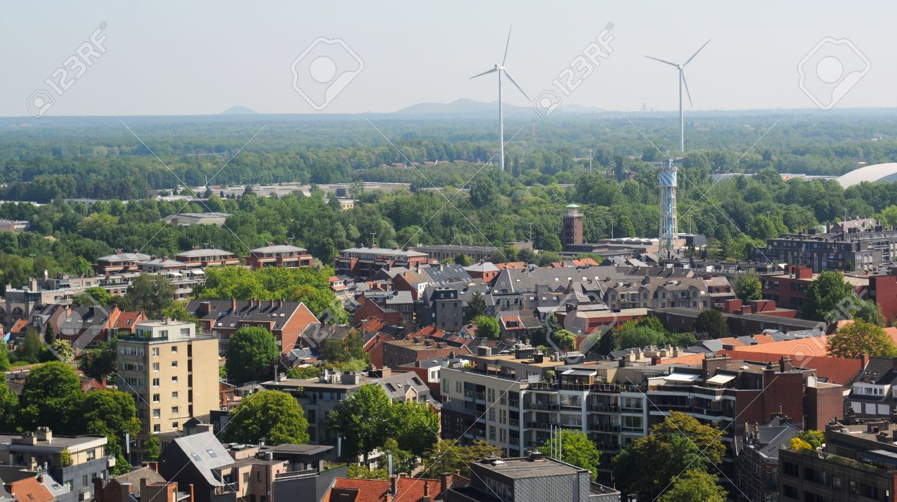 View Over Hasselt With Closed Coal Mines In The Background 1300x728