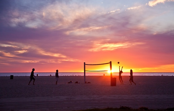 Wallpaper los angeles california wave beach sunset 596x380