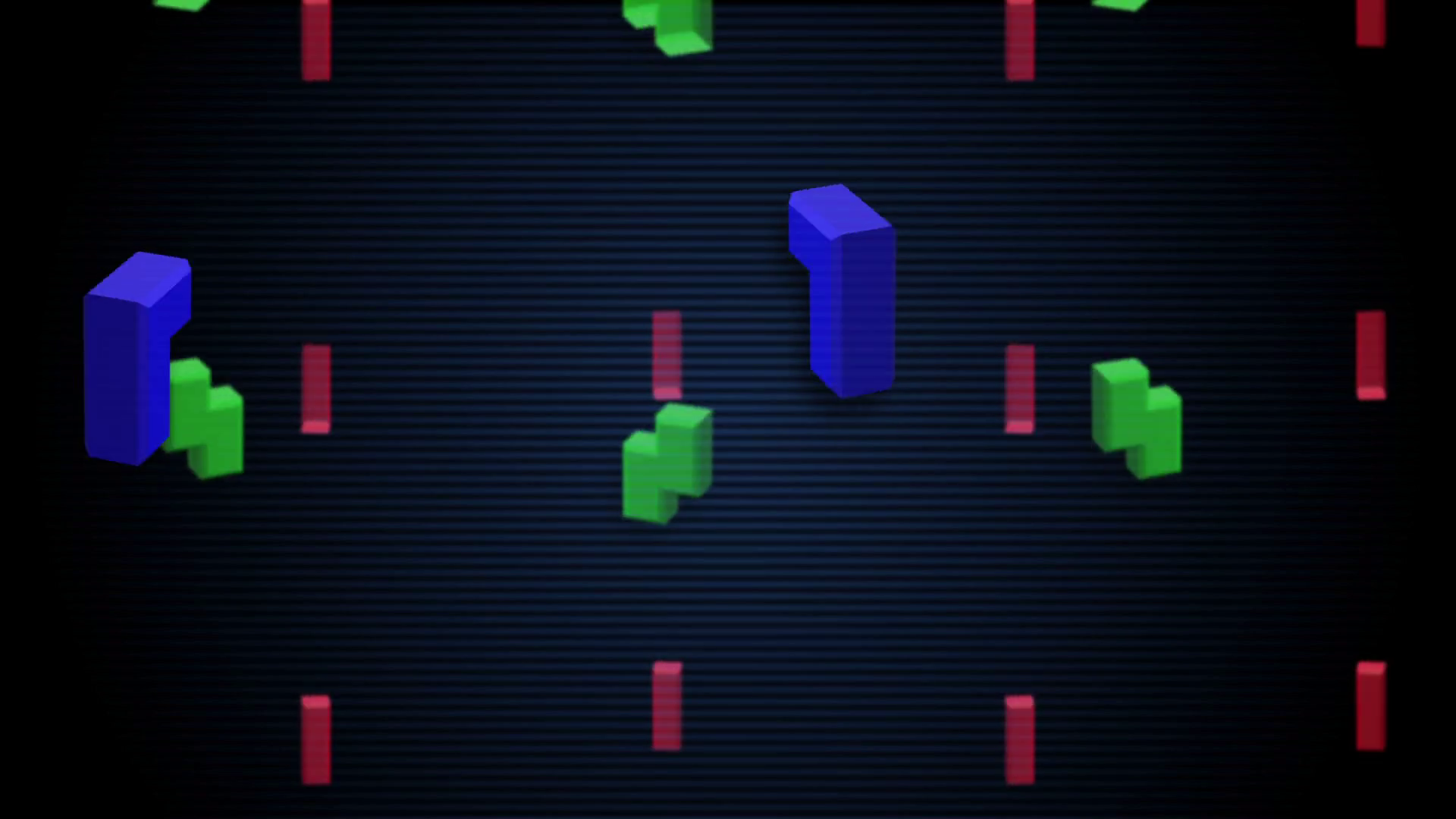 Seamless animated background of pieces inspired in Tetris arcade 1920x1080