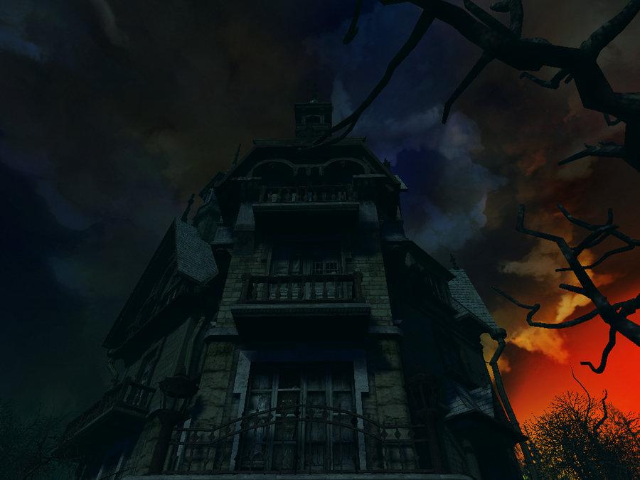 Haunted house background 2 by indigodeep on deviantART 900x675