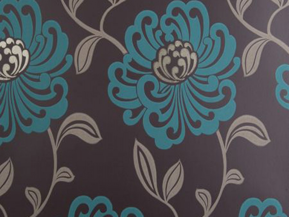 Teal And Brown Wallpaper Photo 12